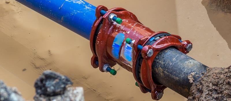 Sprunget vandledning - Utæt forsyningsledning